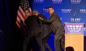 Εκλογές ΗΠΑ: Πανικός σε προεκλογική ομιλία του Τραμπ – Απομακρύνθηκε εσπευσμένα (Vid)