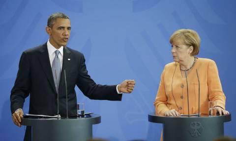Κοινό μήνυμα Μέρκελ - Ομπάμα : Είμαστε πιο δυνατοί όταν συνεργαζόμαστε