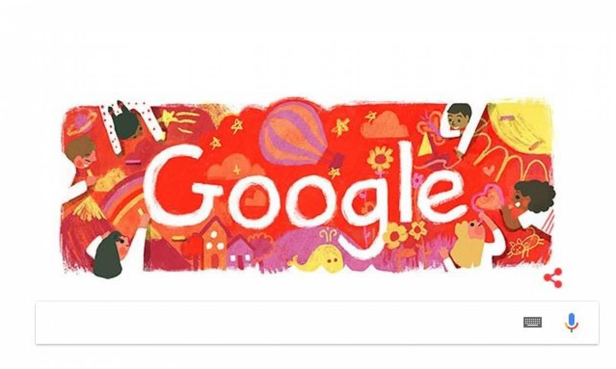 Παγκόσμια Ημέρα για τα Δικαιώματα του Παιδιού με Doodle από την Google