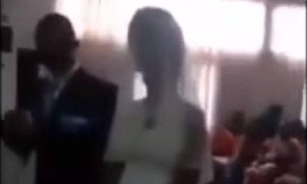 Η αμήχανη στιγμή που η ερωμένη εμφανίζεται στο γάμο του εραστή της ντυμένη με νυφικό (Vid)