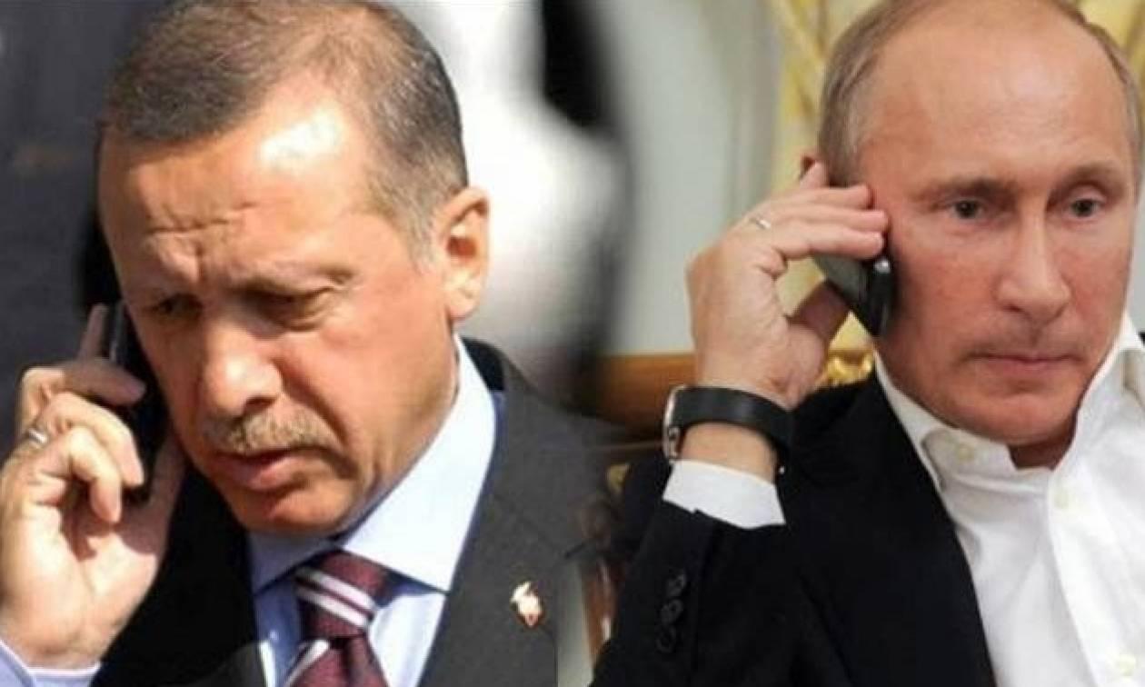 Νέα τηλεφωνική επικοινωνία Πούτιν με Ερντογάν