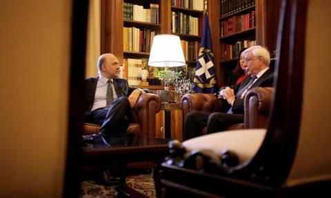 Μοσκοβισί σε Παυλόπουλο: Ήρθε η στιγμή να μιλήσουμε για το ελληνικό χρέος