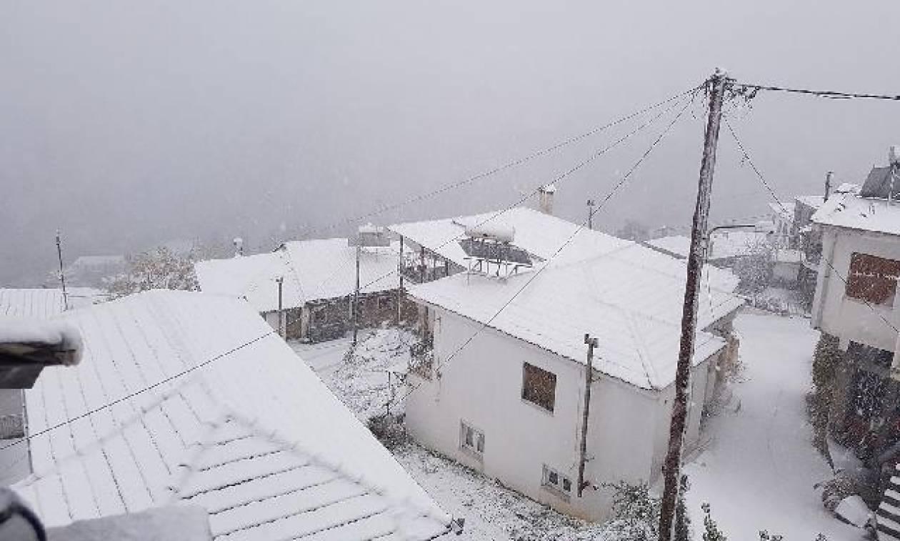 Αποτέλεσμα εικόνας για χιονι τρικαλα