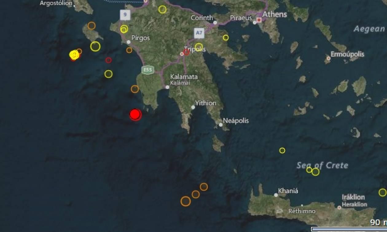 Ισχυρός σεισμός στην Πελοπόννησο