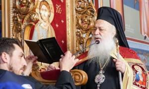 Υποδοχή της τιμίας Κάρας του οσίου Δαβίδ στον ιερό Ναό Αγίας Βαρβάρας Βεροίας