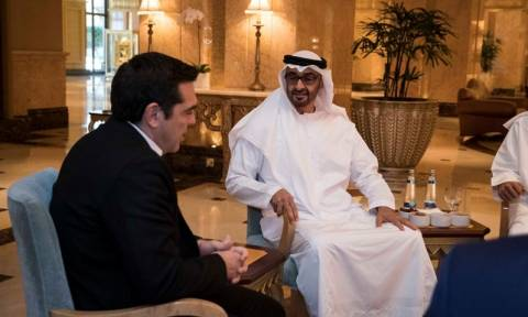 Tsipras, Crown Prince of UAE discuss relations, boosting investments