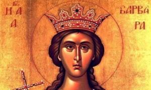 Η Αγία Βαρβάρα στην τέχνη και στη λαογραφία