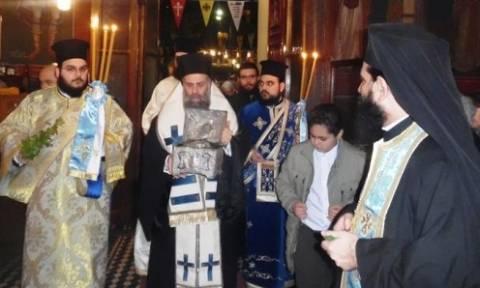Υποδοχή τίμιας κάρας Αγίου Ενδόξου Τρύφωνος στην Καρδίτσα
