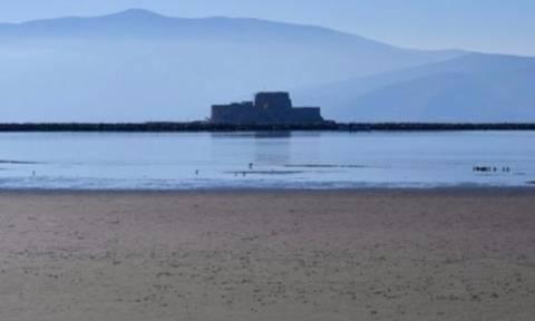 Εξαφανίστηκε η θάλασσα στο Ναύπλιο - Τι συνέβη;