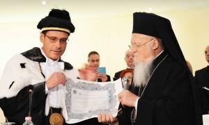 Στην Ιταλία ο Πατριάρχης Βαρθολομαίος (video)