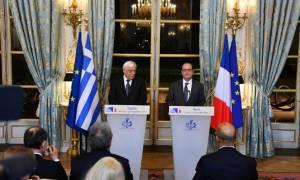 Παυλόπουλος: Αδιαμφισβήτητη η Συνθήκη της Λωζάννης - Ολάντ: Η Ευρώπη να τηρήσει τις δεσμεύσεις της