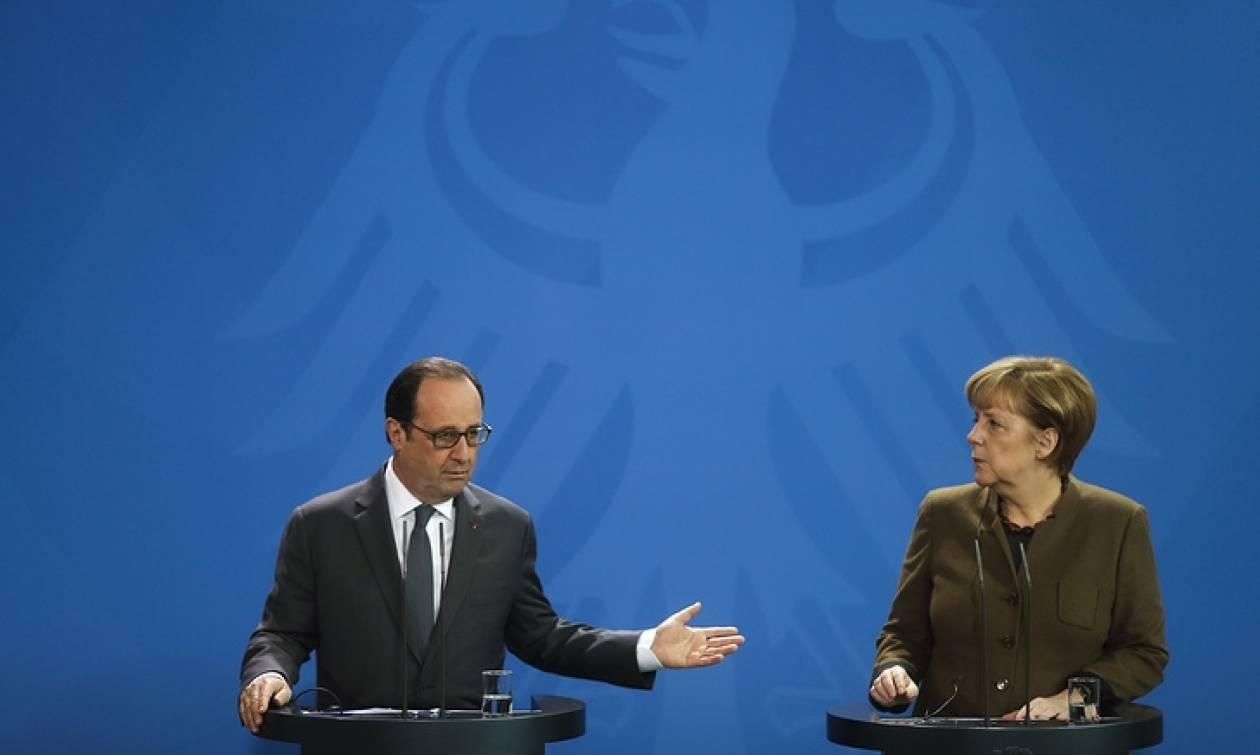 Олланд и Меркель выступили за продление санкций против России
