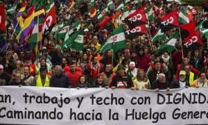 Ισπανία: Μεγάλη διαδήλωση στη Μαδρίτη κατά της πολιτικής του Ραχόι