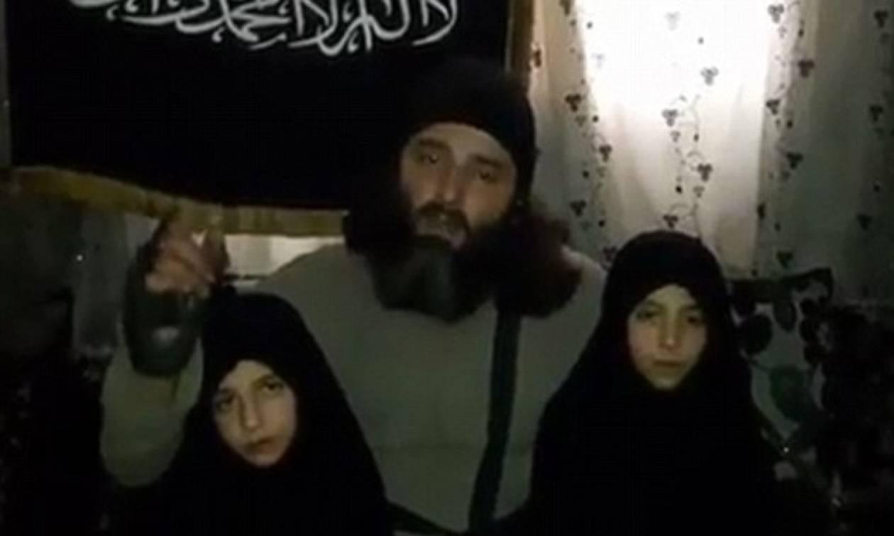 Βίντεο σοκ: Τζιχαντιστές γονείς φιλούν τις κόρες τους πριν τις στείλουν να ανατιναχτούν