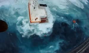 Συγκλονιστικό βίντεο: Η δραματική διάσωση των ναυτικών στην Άνδρο
