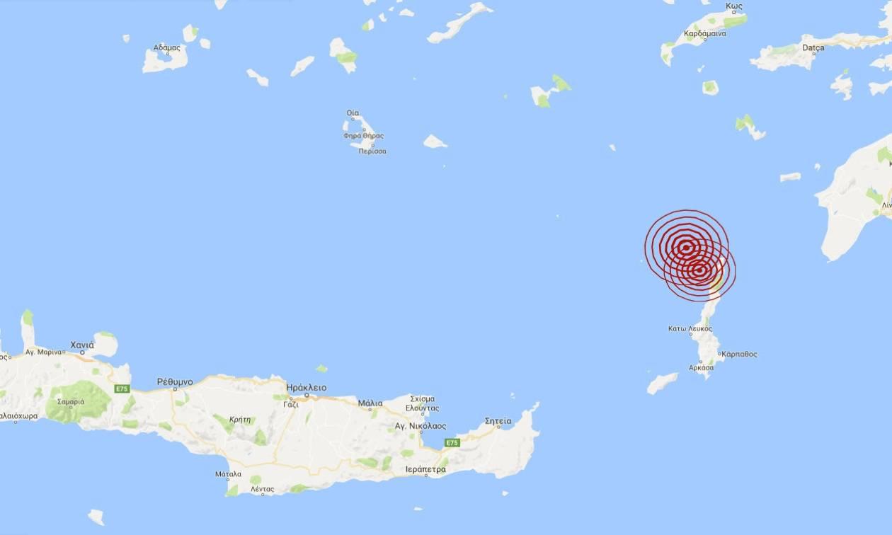 Διπλός σεισμός ΤΩΡΑ κοντά στην Κάρπαθο