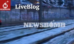 Καιρός - Live Blog: Λεπτό προς λεπτό η εξέλιξη της κακοκαιρίας - Τι προβλέπει η ΕΜΥ