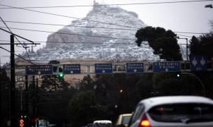 Καιρός Live: Μαγευτικό τοπίο στην Αθήνα - Στα λευκά και ο Λυκαβηττός (photo)