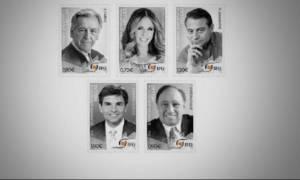 Επιφανείς ομογενείς σε πέντε γραμματόσημα
