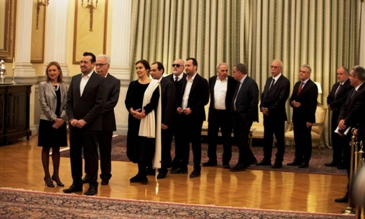 Στον Πρόεδρο της Δημοκρατίας για ευχές οι πολιτικοί αρχηγοί και οι υπουργοί