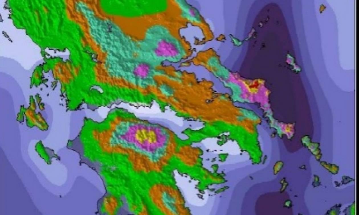 Σοκαριστικός χάρτης χιονοκάλυψης όλης της Ελλάδας: Θα πέσει μέχρι ένα μέτρο χιόνι (Photo)