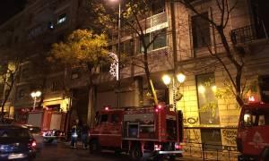 Εμπρηστική επίθεση σε Ίδρυμα στην Ακαδημίας - Επιχείρηση απεγκλωβισμού των εργαζομένων (photos)