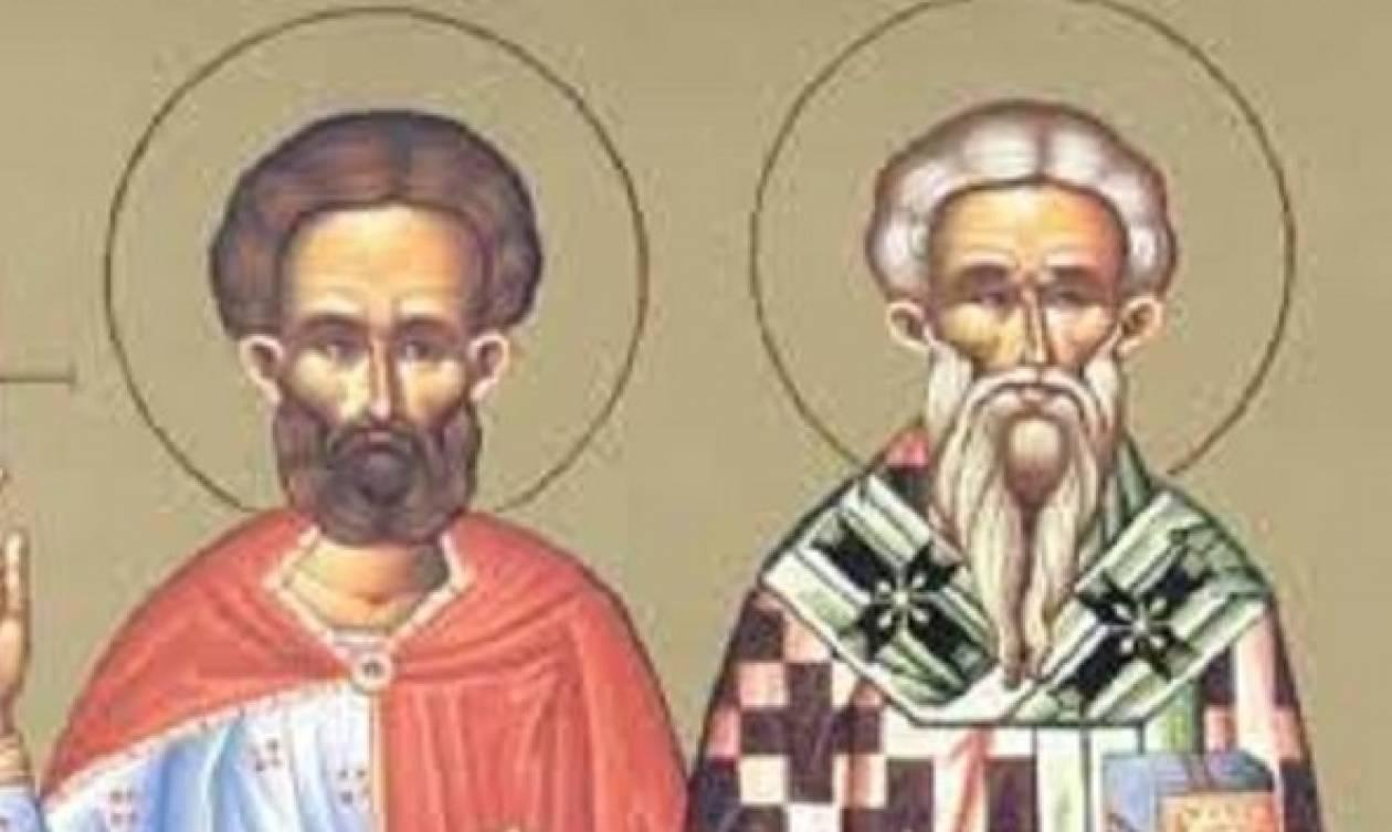 Άγιοι Θεόπεμπτος και Θεωνάς, τιμώνται παραμονή των Φώτων