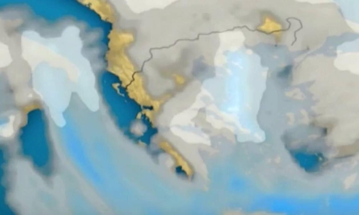 Χιονιάς Αριάδνη: Πού θα χιονίσει; Το δελτίο καιρού του Σάκη Αρναούτογλου (video)