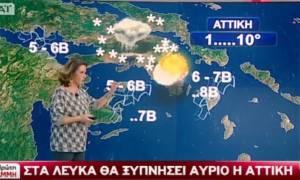 Καιρός - Χριστίνα Σούζη: Χιόνια σε όλη την Αθήνα σε λίγες ώρες - Θα χιονίσει και στην Πάτρα! (vid)
