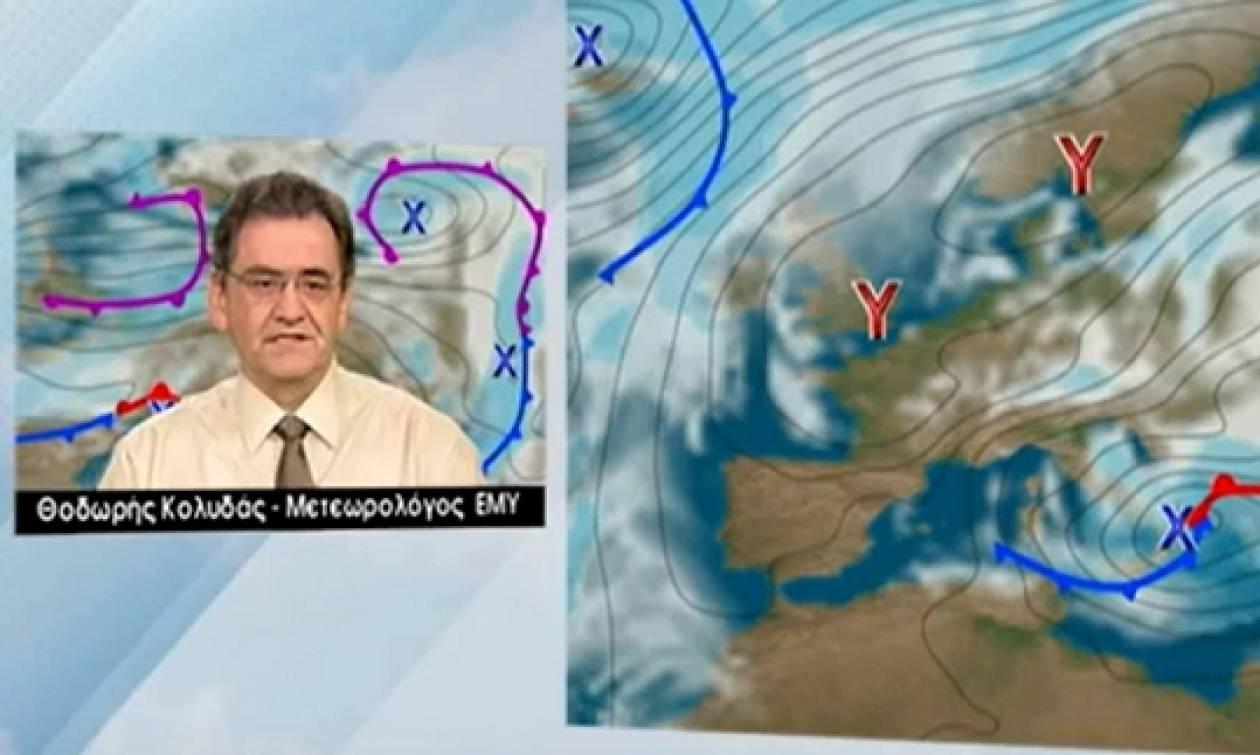Χιονιάς Αριάδνη: Το δελτίο καιρού του Θοδωρή Κολυδά. Πού θα χιονίσει τις επόμενες ώρες; (video)