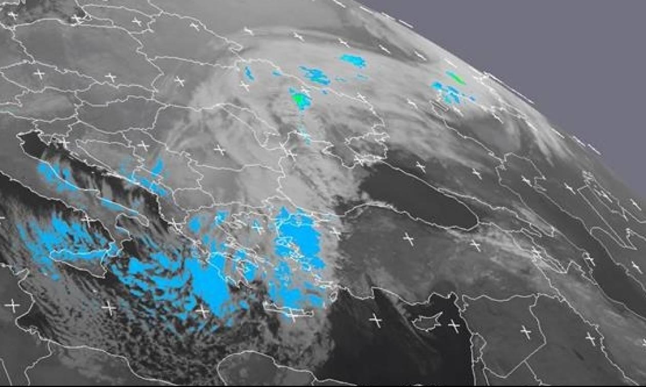 Κακοκαιρία LIVE: Καρέ – καρέ η πορεία του χιονιά «Αριάδνη» πάνω από την Ελλάδα (vid)