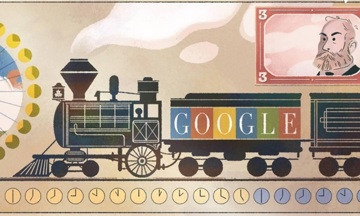Σάντφορντ Φλέμινγκ: Η Google τιμά με Doodle τα 190ά γενέθλια του Σκωτζέσου μηχανικού