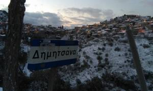 Καιρός Live: Σε λευκό κλοιό ολόκληρη η Αρκαδία - Προβλήματα στο οδικό δίκτυο (photo)