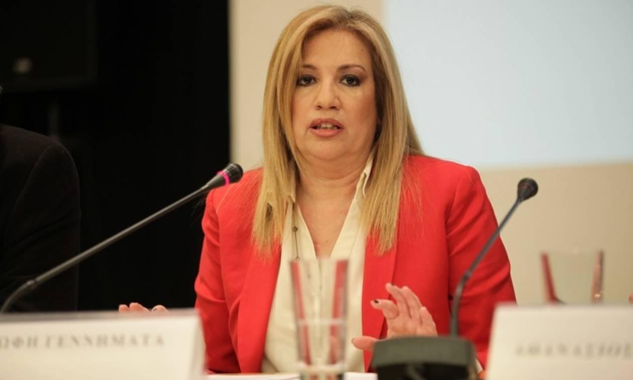 Γεννηματά: Ο Τσίπρας δεν έχει δικαίωμα να υποθηκεύει το μέλλον του ελληνικού λαού