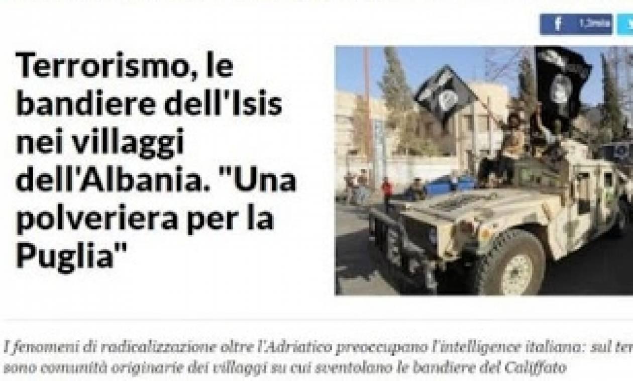 La Repubblica-Μυστικές υπηρεσίες προειδοποιούν: Αλβανοί με σημαίες του ISIS σε αλβανικά χωριά