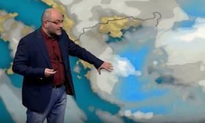 Σάκης Αρναούτογλου: Θα ενταθούν οι χιονοπτώσεις το βράδυ της Δευτέρας (video)