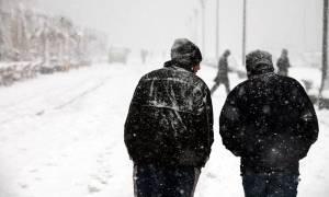 Καιρός Τώρα: Έντονη χιονόπτωση στο Βόλο - Πολικές θερμοκρασίες στο Πήλιο