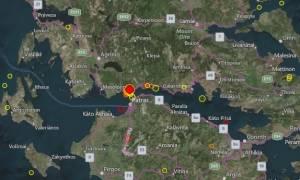Νέος ισχυρός σεισμός στην Πάτρα