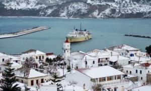 Καιρός: Νέα χιονοθύελλα στην Αλόννησο - Κραυγή αγωνίας από το δήμαρχο: «Βοηθήστε μας»