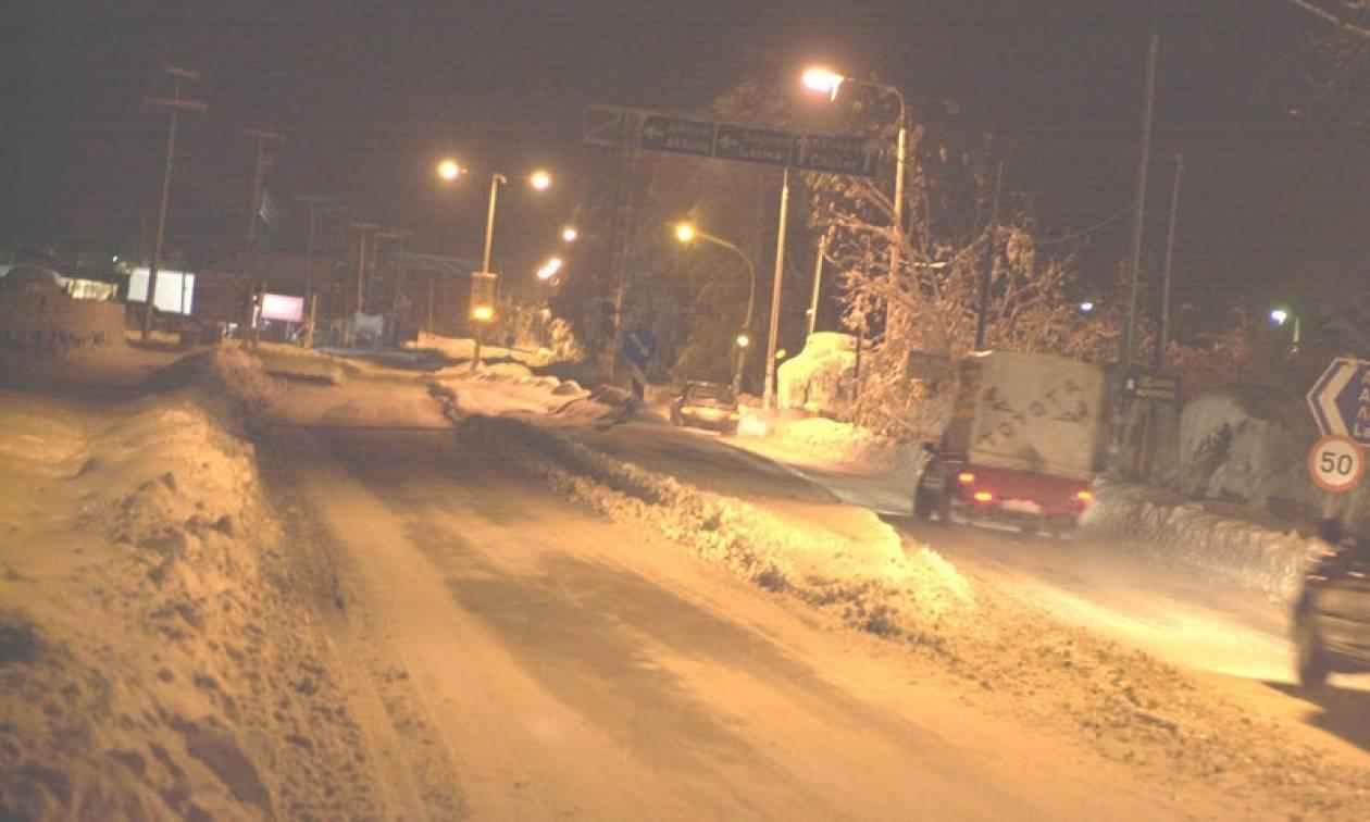 Καιρός Live: Χιονοθύελλα σαρώνει από τα ξημερώματα την Καρδίτσα (vid)