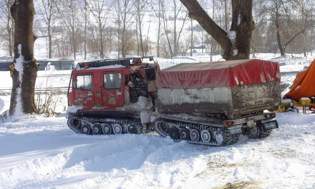 Καιρός ΤΩΡΑ - Χαλκιδική: Εγκλωβισμένοι κτηνότροφοι από το χιονιά