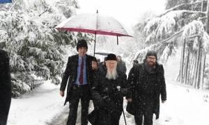 Εντυπωσιακές φωτογραφίες: Ο «παγωμένος» Πατριάρχης Βαρθολομαίος