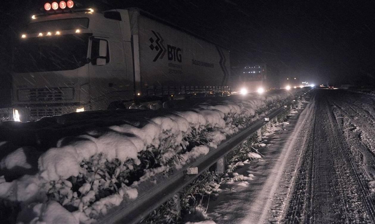Καιρός: Σφοδρή χιονόπτωση στη Λαμία - «Μάχη» για να μην κοπεί η Ελλάδα στα δύο (vid)