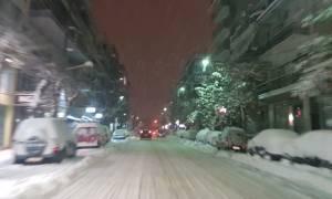 Καιρός Tώρα: Άγγιξε το μισό μέτρο το χιόνι στη Λάρισα (pics)