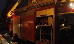 Συναγερμός στα Τρίκαλα για μεγάλη πυρκαγιά σε αποθήκη