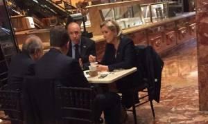 Τι γυρεύει στον ουρανοξύστη Τραμπ η Μαρίν Λεπέν;