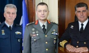 Αυτοί είναι οι νέοι αρχηγοί στις Ένοπλες Δυνάμεις