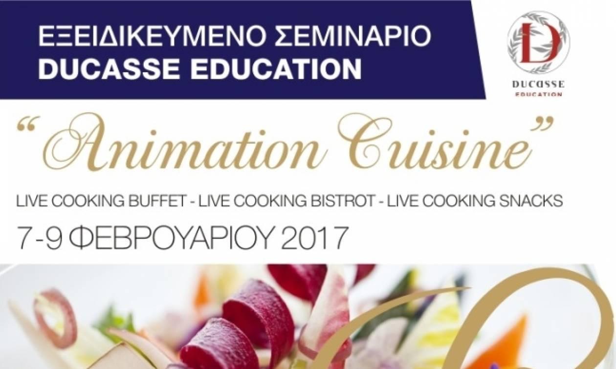 «Animation Cuisine» Για πρώτη φορά στην Ελλάδα Live Cooking Buffet