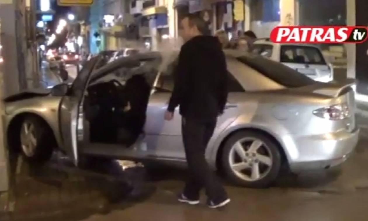 Πάτρα: Αυτοκίνητο με τρία ανήλικα παιδιά «καρφώθηκε» σε κολώνα