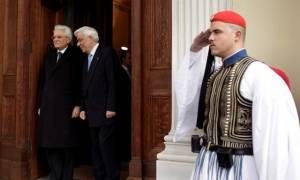 Στο Προεδρικό Μέγαρο ο Σέρτζιο Ματταρέλα: Ανάγκη η ΕΕ να εστιάσει στην ανάπτυξη